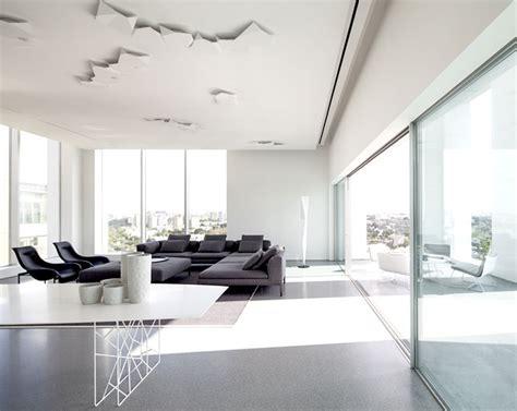 layers  white penthouse located  tel aviv interiorzine