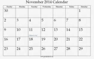 november 2014 blank calendar template blank november 2014 calendar printable template