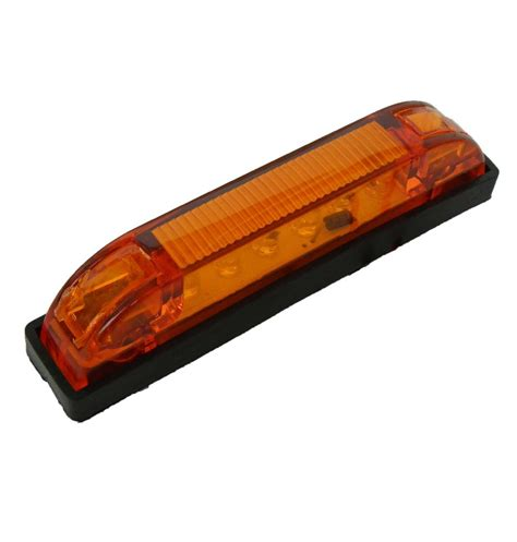 boat trailer clearance lights 10 x multi volt yellow 12v 24v 4 quot led trailer clearance