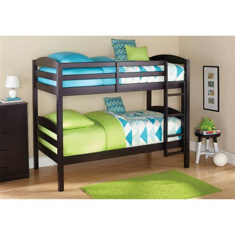 bunk beds twin  twin kids furniture bedroom ladder wood convertible bunkbeds ebay
