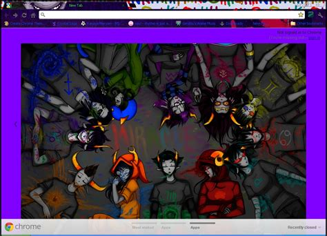 chrome themes homestuck gamzee makara sober google chrome theme by eirinicordia