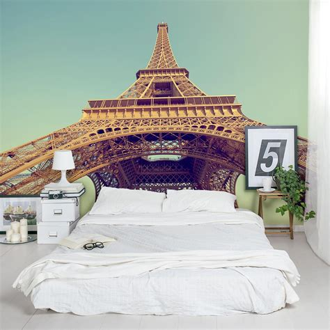 Wall Murals Eiffel Tower Retro Eiffel Tower Wall Mural