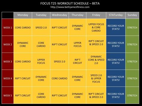 printable t25 schedule focus t25 workout schedule calendar beta products i