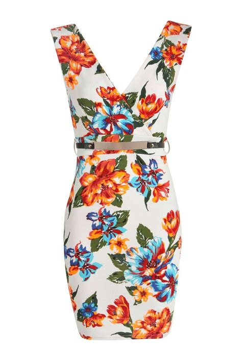 Boohoo Gift Card Australia - boohoo womens molly floral wrap over belted bodycon dress ebay