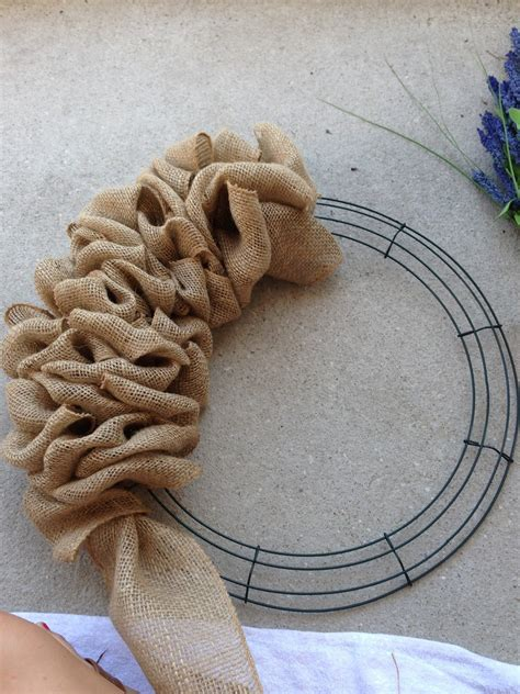 how to make a wreath with burlap little lovely leaders burlap wreath