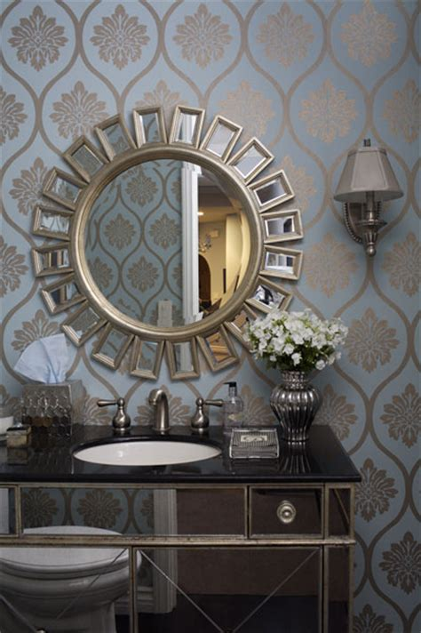 hollywood regency bathroom borghese mirrored bathroom vanity contemporary