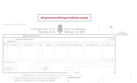 uk certificate template blank uk marriage certificate template image collections