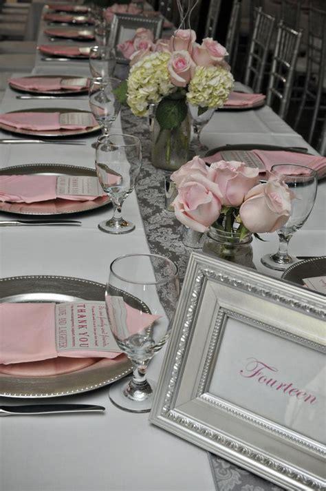 wedding color idea pink and grey white silver oooo now pink wedding reception silver and pink country dade city