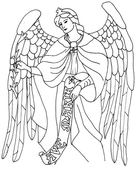 saint gabriel coloring page angels pinterest other