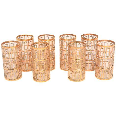 Bartending Glasses Set Set Of Eight Shoji Highball Cocktail Glasses At 1stdibs