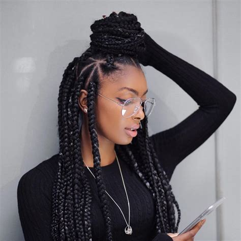 large or extra large box braids nice 45 breathtaking hairstyles with big box braids