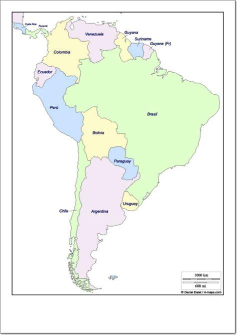 imagenes de mapa sudamerica mapa pol 237 tico de sudam 233 rica mapa de pa 237 ses de sudam 233 rica
