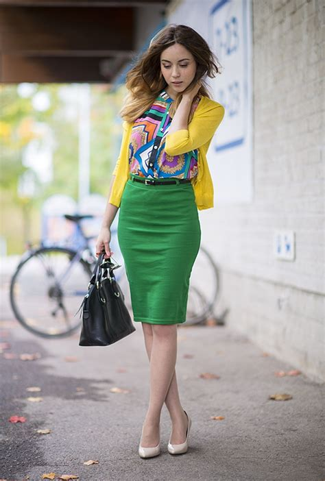 Pencil Skirt And Blouse Combo by 22 Best Images About Green Skirt On
