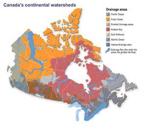 canada water bodies map canada water bodies