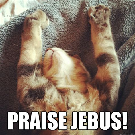 praise jebus praise cat quickmeme