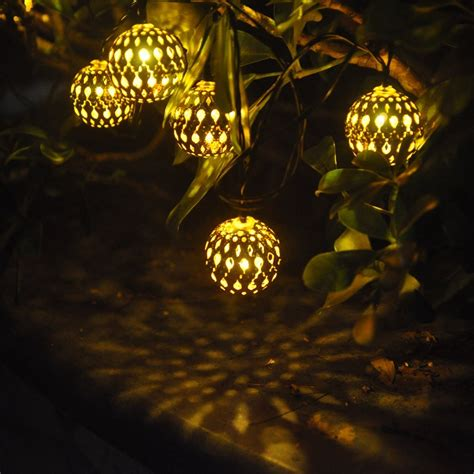 Solar Patio Lights String   Solar Led String Lights White