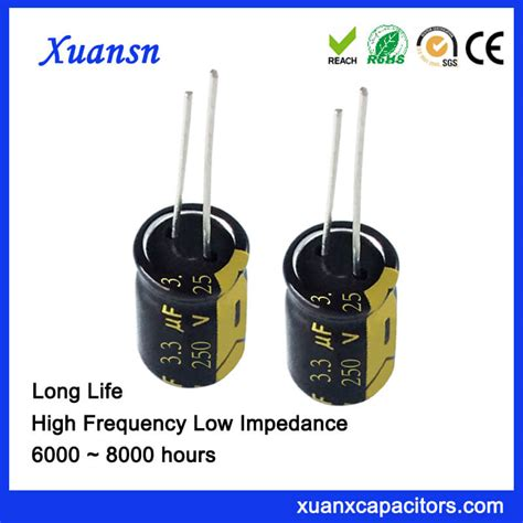 capacitor lifespan hours 250v 3 3uf capacitor radial car capacitor
