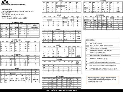 uam universidad autonoma metropolitana calendario escolar