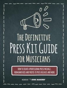 Advice For Press Kits Press Releases Band Bios Social Media Band Press Pack Template