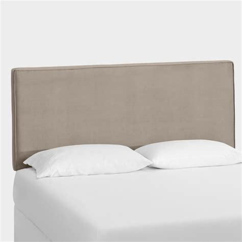 velvet loran upholstered headboard world market