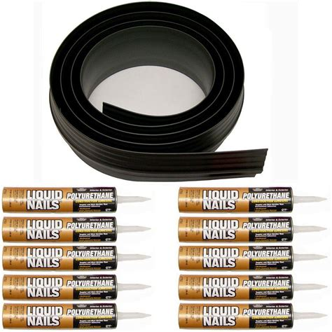 Tsunami Seal 100 Ft Black Garage Door Threshold Kit 53100 Tsunami Garage Door Threshold Seal