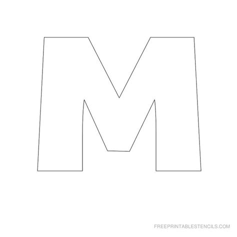 free printable letter stencils for crafts printable big letter stencil m printables pinterest