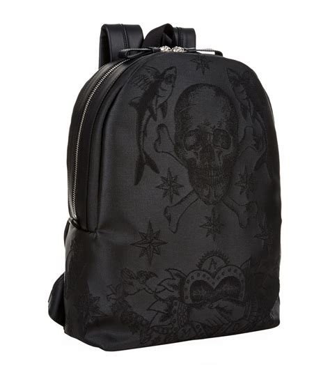 tattoo backpack alexander mcqueen embroidered skull tattoo backpack in