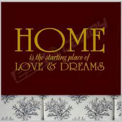 Decorative Floral Arrangements Home Home Is The Starting Family Wall Quotes Words Sayings