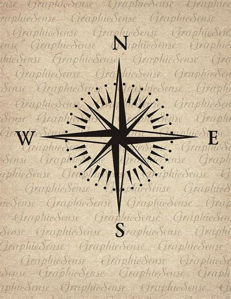 tattoo design transfer paper mariner s compass printable graphics digital collage