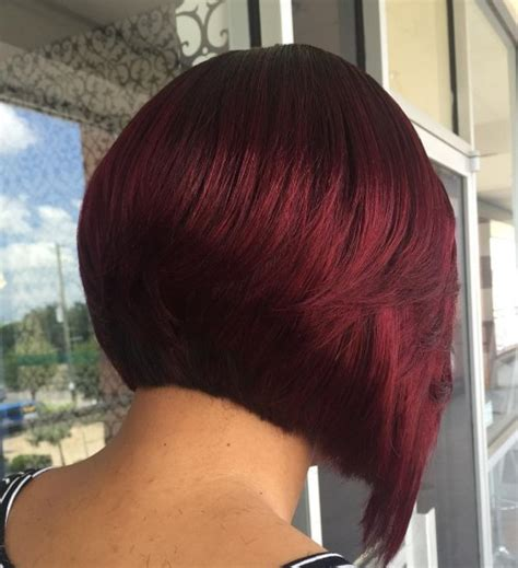 burgundy short messy bob the full stack 30 hottest stacked haircuts