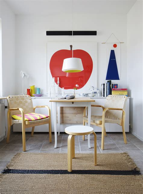 Colorful Dining Table Set Nook Dining Table Set Lovely Colorful Dining Nook In Living Room With Alvar Aalto Chairs
