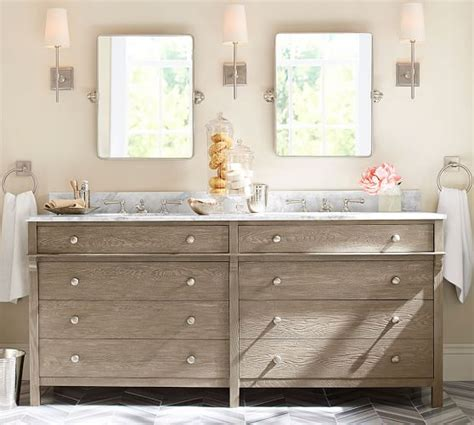 pottery barn bathroom sinks toulouse double sink console pottery barn