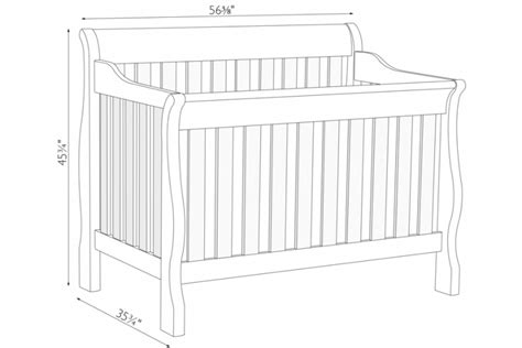 Baby Crib Dimensions Dimensions Of Baby Crib 28 Images Baby Crib Dimensions Www Pixshark Images Galleries What