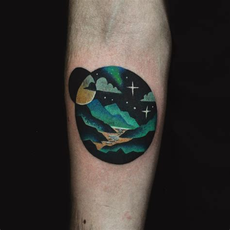 small mountain tattoo small mountain landscape on arm best ideas