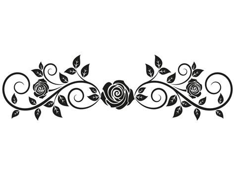 wandtattoo rosenranke mit bl 228 tter wandtattoo rosen ranke
