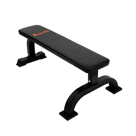 buy gym bench everfit gym flat weight exercise bench in black buy