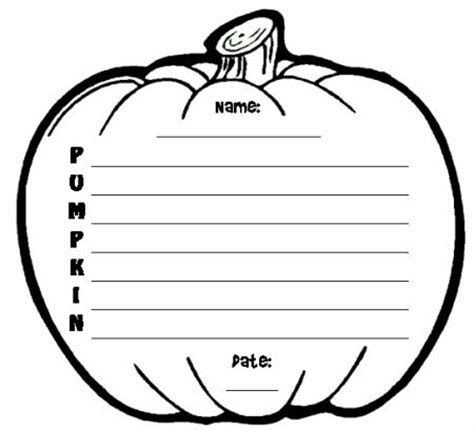 pumpkin writing paper template teaching resources and lesson plans
