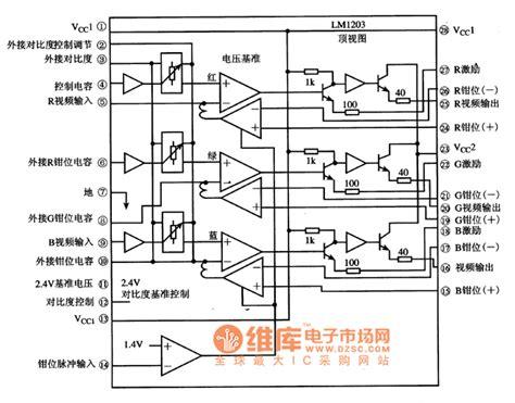 integrated circuit block diagram circuit block circuit diagram of lm1203 integrated circuit filter circuit basic