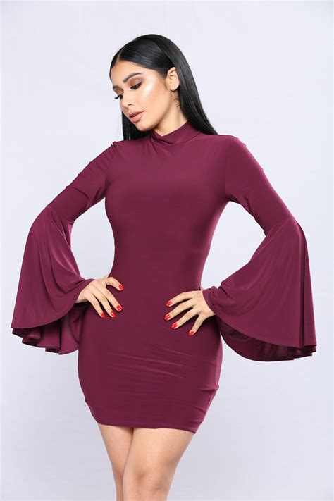Sleeve Dress babette bell sleeve dress plum