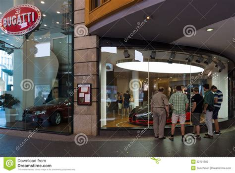 bugatti dealership bugatti dealership on friedrichstrasse editorial