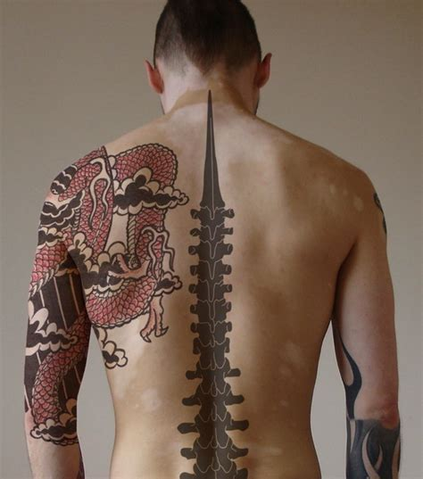 spinal cord tattoo 50 remarkable back designs for