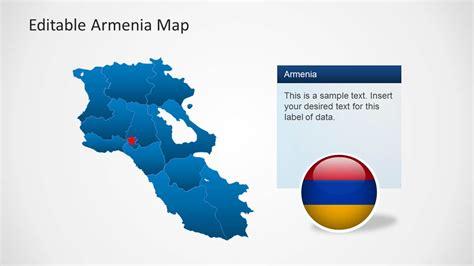 Editable Armenia Map Template For Powerpoint Slidemodel Editable Powerpoint Templates