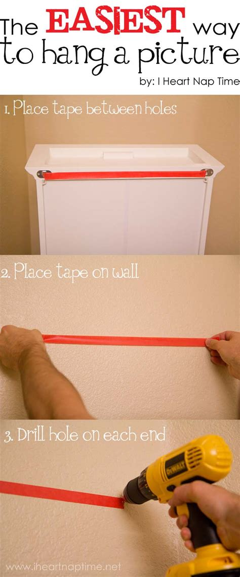 tip easiest way to hang a picture i nap time - Easy Way To Hang Pictures