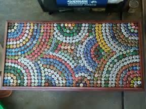 bottle cap table ideas design cool