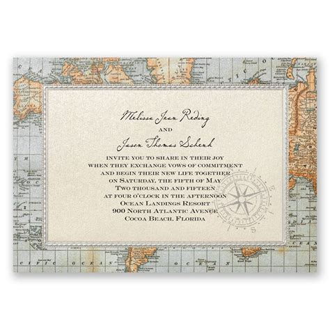 wedding invitation map template antique world map invitation invitations by