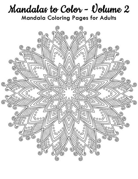 Mandalas to Color - Volume 2 - FREE Printable Page to