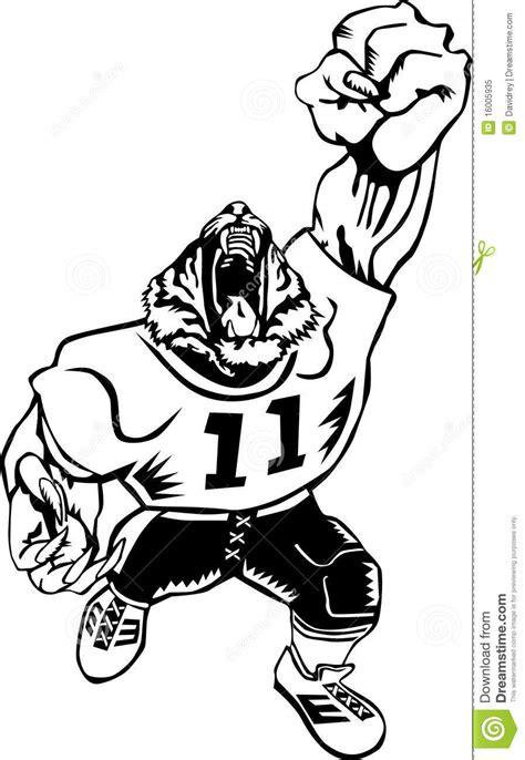 Football tiger mascot stock vector. Illustration of