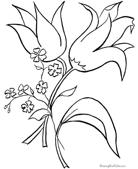 free coloring pages of easter flowers easter flower coloring pages flower coloring page
