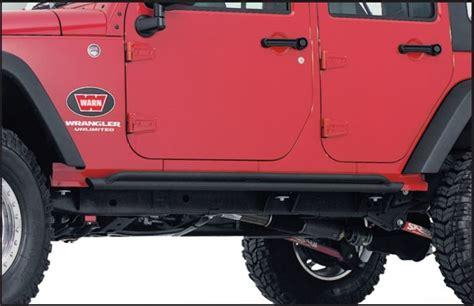 Jeep Wrangler Rock Sliders Warn 74575 Rock Sliders For 07 17 Jeep 174 Wrangler Unlimited