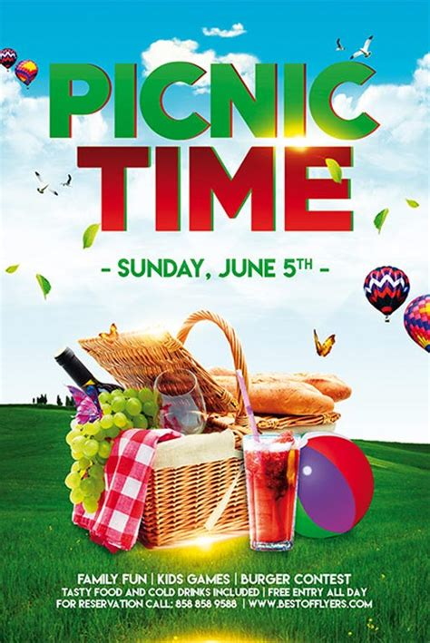 church picnic flyer templates picnic time free poster template for community picnic events